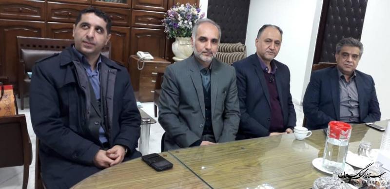 دیدار مدیرعامل شرکت توزیع نیروی برق گلستان با معاون منابع انسانی شرکت توانیر