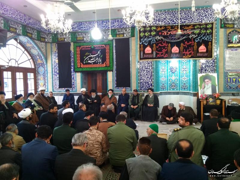حضور استاندار گلستان در مراسم ارتحال مرحوم آیت الله میبدی