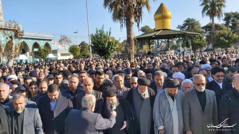 حضور استاندار گلستان در مراسم تشییع صبیه مرحوم آیت الله طاهری گرگانی