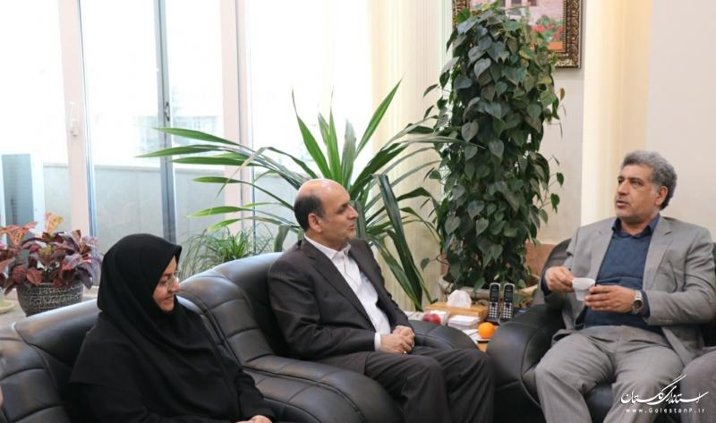 دیدار معاون وزیر امور اقتصادی و دارایی با استاندار گلستان
