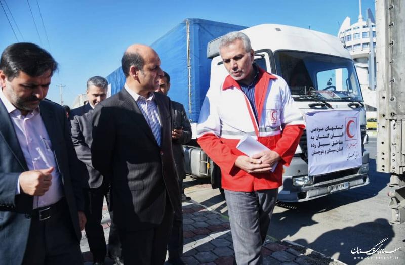 ارسال کمک های مردمی استان گلستان به مناطق سیل زده استان سیستان و بلوچستان