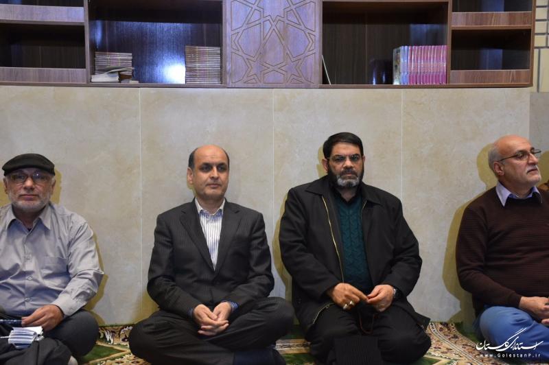 حضور استاندار گلستان در مراسم وداع با پیکر شهید گمنام دفاع مقدس