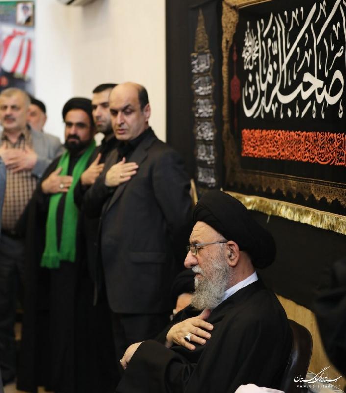 حضور استاندار گلستان در مراسم عزاداری ایام فاطمیه (س) در بيت نماينده ولي فقيه در استان