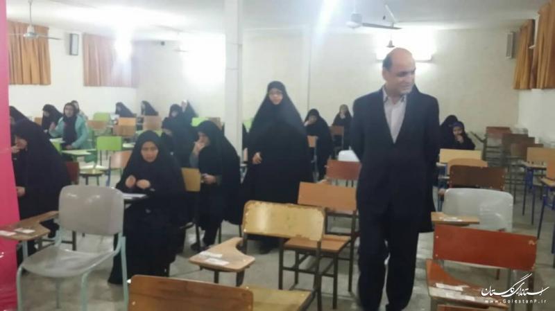 حضور استاندار  گلستان در محل برگزاری هجدهمین آزمون سراسری حفظ و مفاهیم قرآن کریم