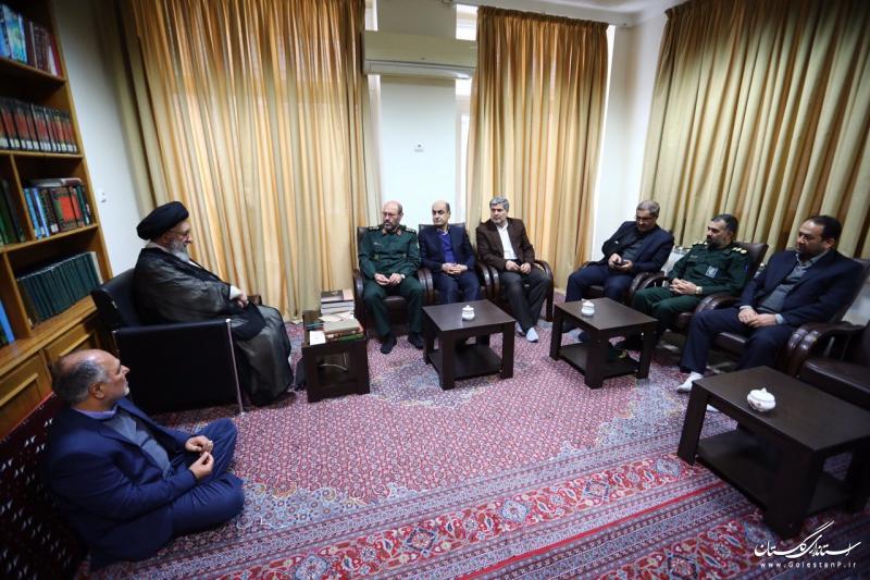با همراهی استاندار گلستان انجام شد:  ديدار سردار دهقان با نماینده ولی فقیه در گلستان