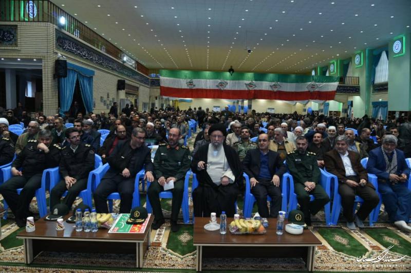 حضور استاندار گلستان در مراسم گرامیداشت سپهبد شهید سلیمانی با سخنرانی سردار دهقان