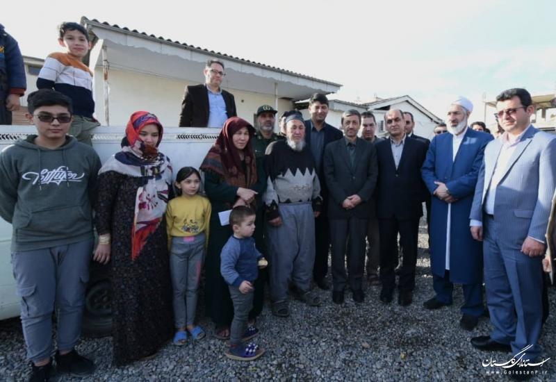 با همراهی استاندار گلستان؛ حضور رییس بنیاد مستضعفان در مناطق سیلزده شهرستان آق قلا