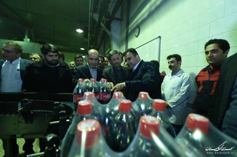 بازدید رییس بنیاد مستضعفان و استاندار گلستان از کارخانه زمزم