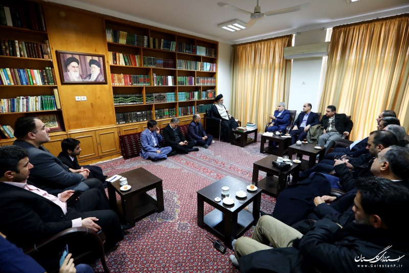 دیدار رییس سازمان برنامه و بودجه با نماینده ولی فقیه در گلستان
