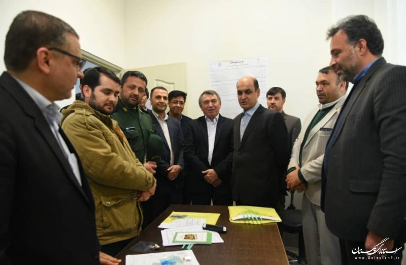 بازدید استاندار گلستان از ستاد انتخابات شهرستان مراوه تپه