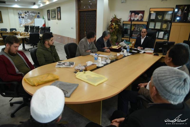 دیدار استاندار گلستان با خانواده شهدای خدمت سیل گلستان