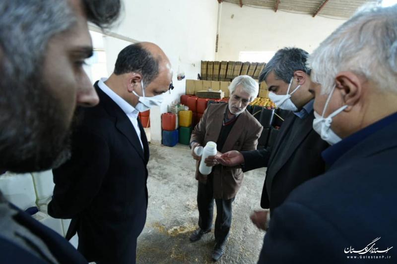 بازدید استاندار گلستان از دو شرکت تولیدی مواد ضدعفونی کننده