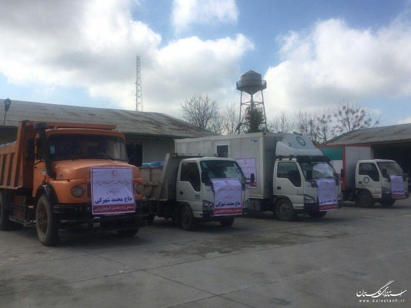 ارسال یک هزار بسته غذایی  به مناطق زلزله زده آذربایجان غربی به همت داوطلب جمعیت هلال احمر گلستان