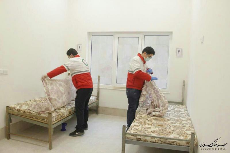 استفاده از ظرفیت داوطلبی هلال احمر استان در نگهداری بیماران بهبود یافته کرونایی