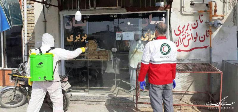 ضدعفونی محیط شهری برای مقابله با شیوع ویروس کرونا در گلستان با استفاده از ظرفیت داوطلبان