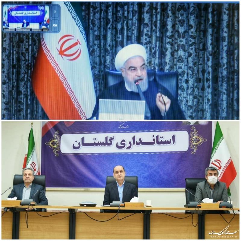 گفتگوی دکتر روحانی رئیس جمهوری با استانداران سراسر کشور از طریق ویدئو کنفرانس پیرامون بررسی اقدامات به منظور پیشگیری و مقابله با شیوع ویروس کرونا