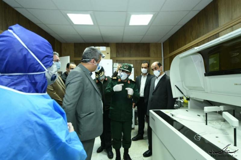 عیادت و تبریک سال نو استاندار گلستان به بیماران و کادر درمانی
