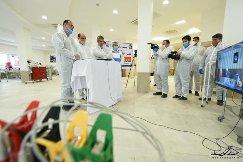 گفتگوی ویدیو کنفرانسی رییس جمهور با استاندار گلستان در نقاهتگاه بیماران مبتلا به ویروس کرونا