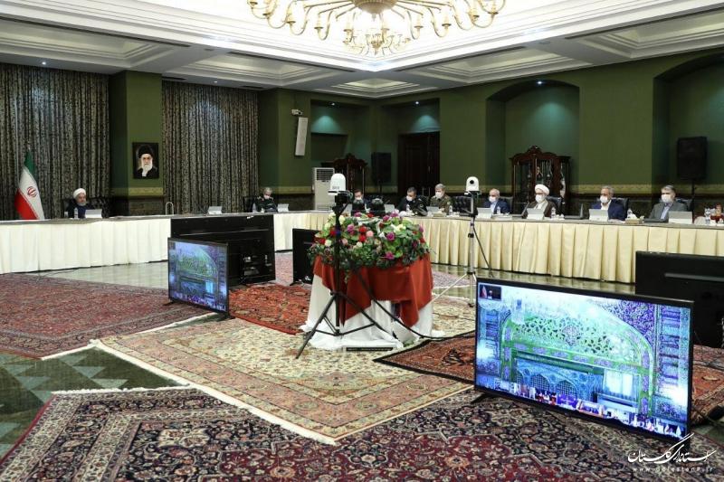 گفتگوی ویدئو کنفرانسی رییس جمهور با استانداران سراسر کشور در خصوص روند اقدامات و تدابیر مبارزه با بیماری کرونا