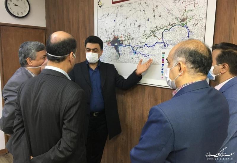 بازدید استاندار گلستان از مرکز پایش و راهبری تاسیسات آب و فاضلاب شهرستان گرگان