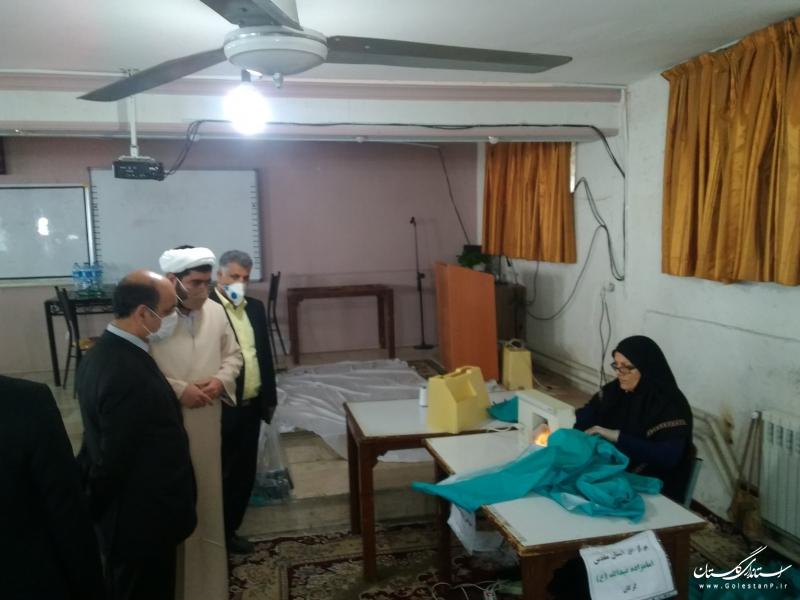 بازدید استاندار گلستان از قرارگاه مردمی شهدای سلامت استان