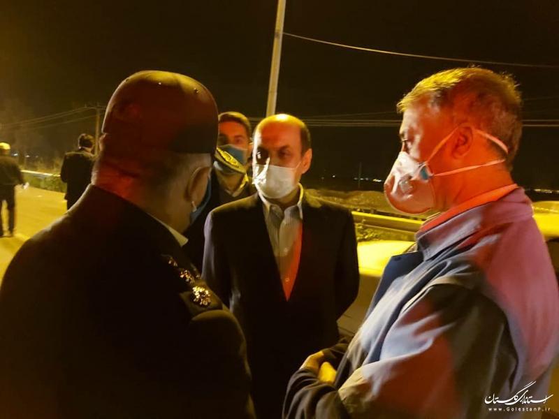 استاندار گلستان از روند اجرای طرح ملی کاهش زنجیره انتقال بیماری کرونا در شرق استان بازدید کرد