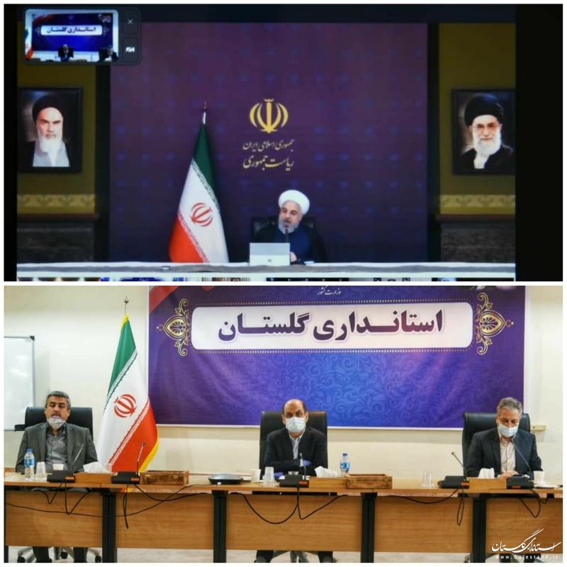 گفتگوی دکتر روحانی رئیس جمهوری با استانداران سراسر کشور از طریق ویدئو کنفرانس پیرامون روند اجرای طرح ملی کاهش زنجیره انتقال بیماری کرونا