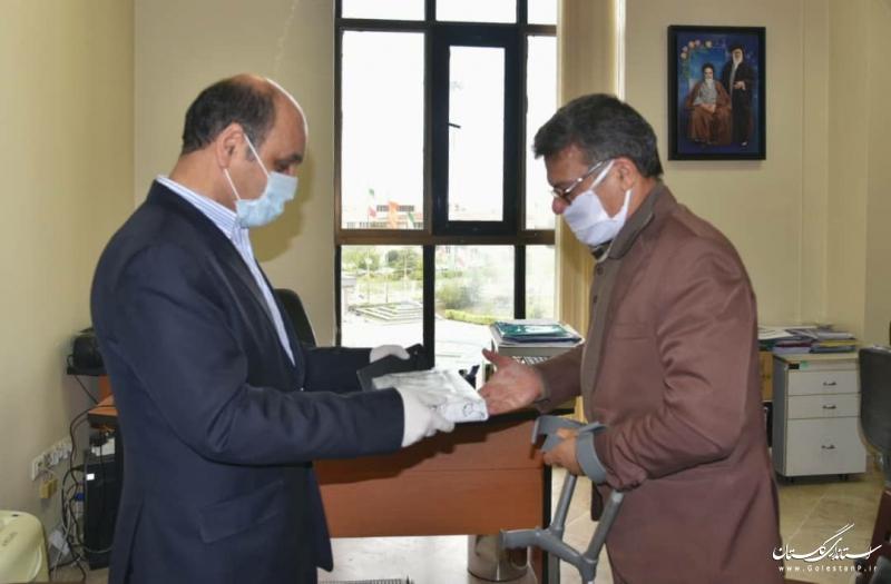 دکتر حق شناس روز جانباز را به جانبازان شاغل در استانداری گلستان تبریک گفت