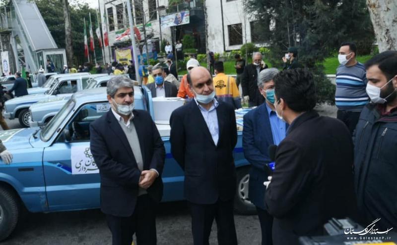 با حضور استاندار گلستان ؛ دهمین مرحله توزیع اقلام بهداشتی در شهر گرگان انجام شد
