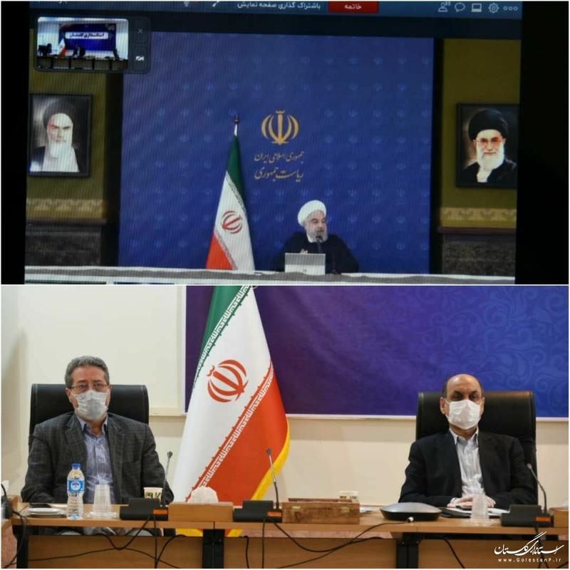 گفتگوی دکتر روحانی رئیس جمهوری با استانداران سراسر کشور از طریق ویدئو کنفرانس در جلسه ستاد ملی مدیریت و مقابله با کرونا