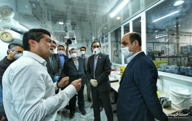 بازدید استاندار گلستان از دو واحد تولیدی در شهرستان گمیشان