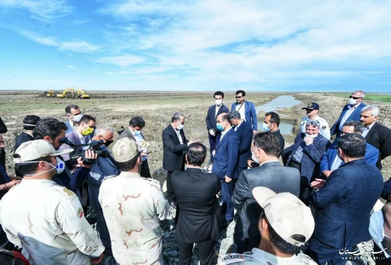 بازدید استاندار گلستان از پروژه در حال اجرای بندر خواجه نفس