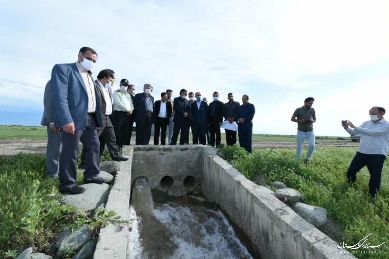 زهکشی و اجرای آب بندان ها محصول زمین های کشاورزی گمیشان را چندین برابر کرده است