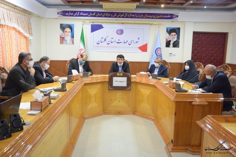 نخستین جلسه شورای مهارت استان گلستان در سال 99 برگزار شد