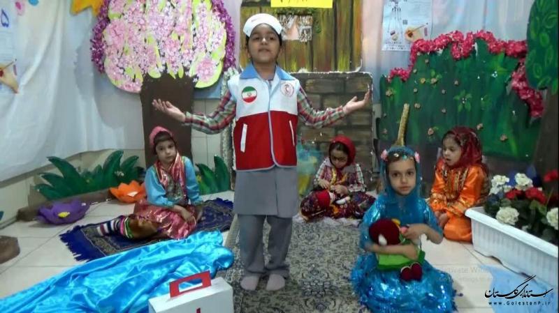 مقام آوری غنچه های هلال گلستان در سومین جشنواره ماه پیشونی