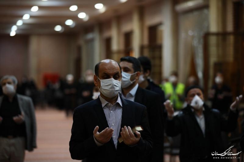 حضور استاندار گلستان در مراسم شب احیا با رعایت پروتکل های بهداشتی