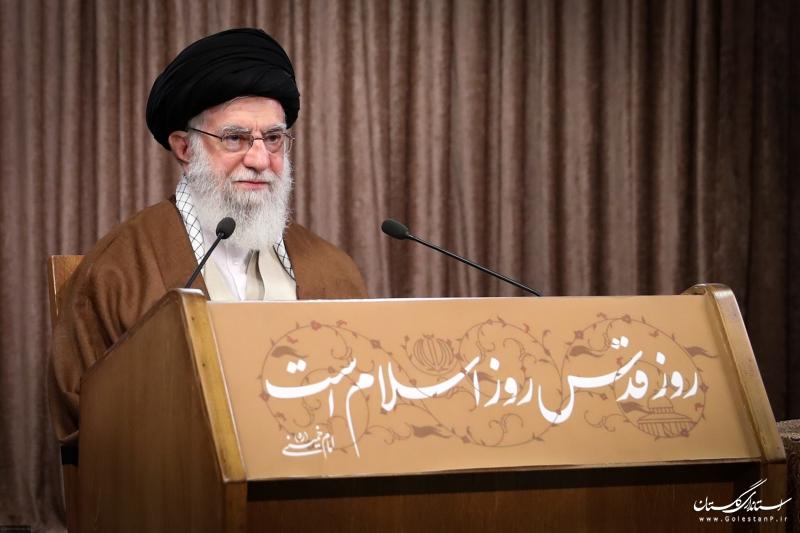 سخنرانی تلویزیونی مقام معظم رهبری (مدظله العالی) به مناسبت روز جهانی قدس