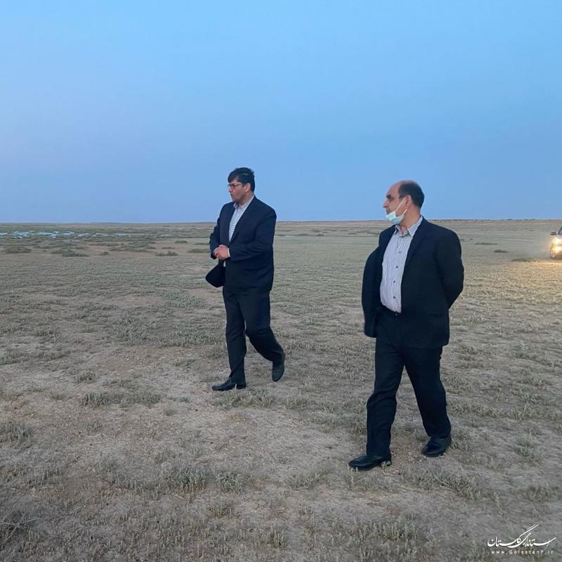 بازدید استاندار گلستان از روند عملیات پمپاژ پسآب کارخانه ید به تالاب اینچه برون