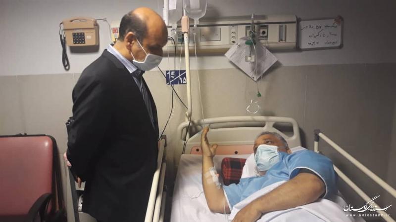 عیادت استاندار گلستان از جانباز ۷۰ درصد در گرگان