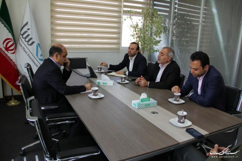 دیدار استاندار گلستان با مدیران عامل شرکت سرمایه گذاری نیروگاهی ایران و شرکت آذرخش