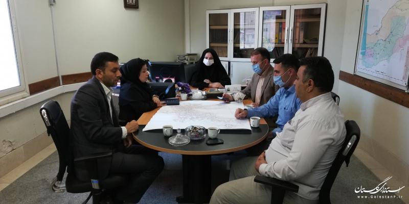بررسی و هماهنگی در جهت تسریع در تهیه مطالعات و تصویب طرح هادی شهر دوزین