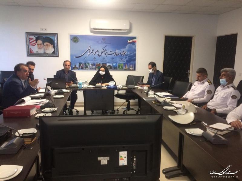 بررسی پل روگذر ورودی آزادشهر در شورای ترافیک استان