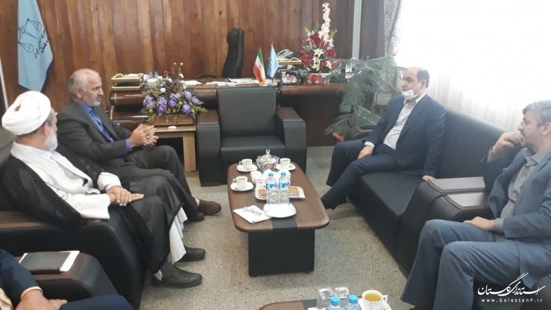 به مناسبت هفته قوه قضاییه؛  دیدار استاندار گلستان با رییس کل دادگستری استان