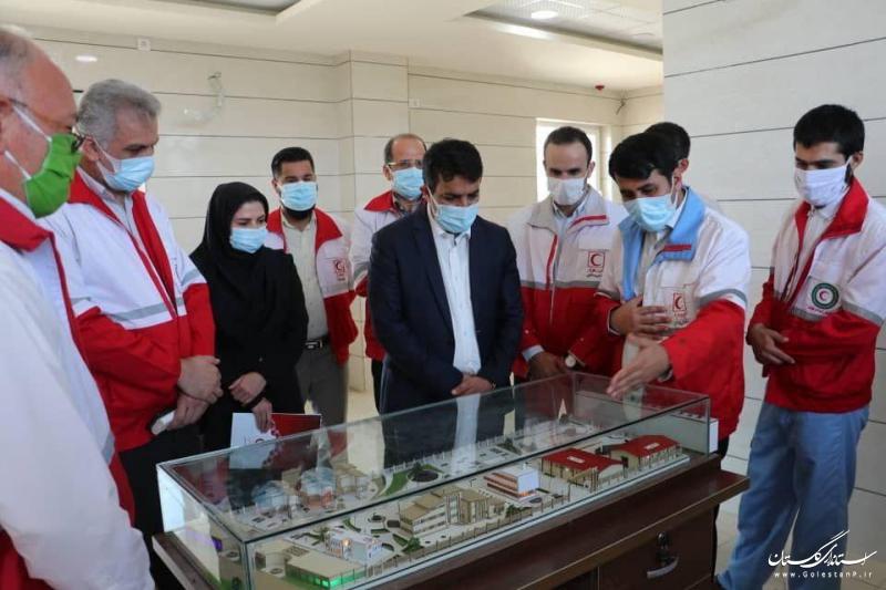 بازدید یکروزه معاون بهداشت، درمان و توانبخشی جمعیت هلال احمر از هلال احمر گلستان