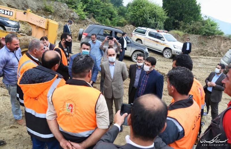 بازدید استاندار گلستان از روستاهای کوهستانی شهرستان کردکوی