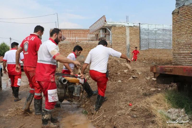 ارائه خدمات امدادی به 568 حادثه دیده در آبگرفتگی شرق گلستان