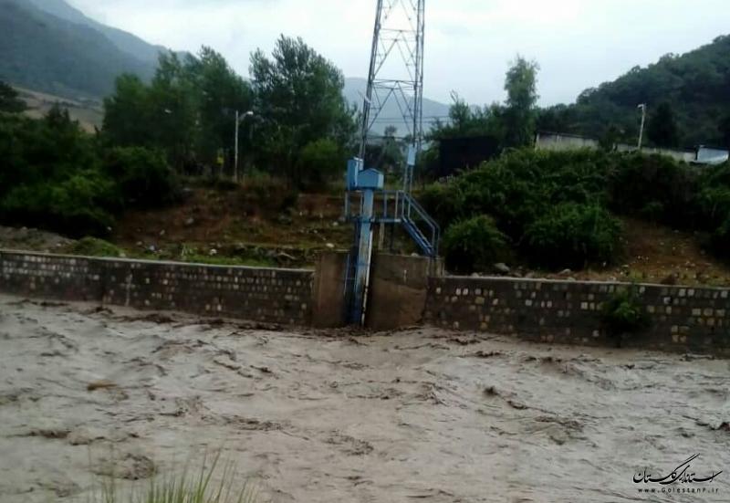 وضعیت بارندگی روزهای اخیر استان و آبدهی رودخانه ها