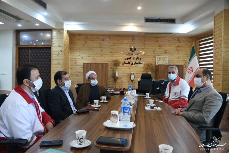 هلال احمر گلستان در پوشش امدادی حوادث در سطح استان خوش درخشید