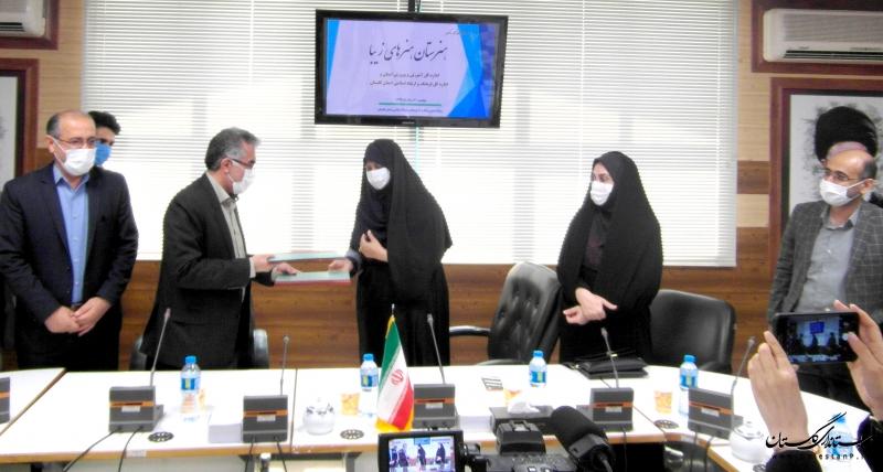 تفاهم نامه تاسیس هنرستان دخترانه هنرهای زیبا در شهرستان گرگان به امضا رسید