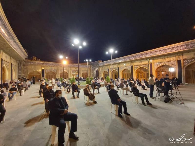حضور استاندار گلستان در مراسم عزاداری امام حسین (ع) در مسجد جامع گلشن گرگان